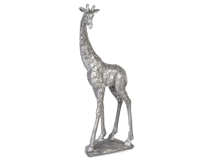 DUMNA ŻYRAFA figurka srebrna, wys. 47 cm