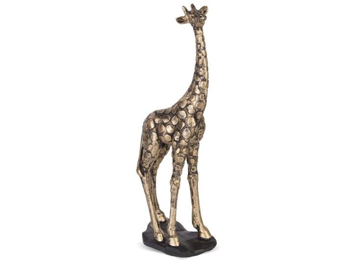 DUMNA ŻYRAFA figurka złota, wys. 35 cm