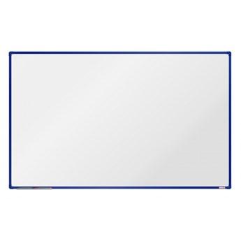 Biała magnetyczna tablica boardOK, 200 x 120 cm, niebieska rama