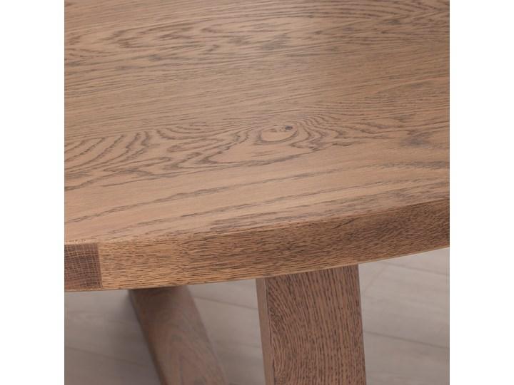 MORBYLANGA Stół Wysokość 75 cm Styl Rustykalny Drewno Długość 145 cm  Szerokość 145 cm Rozkładanie