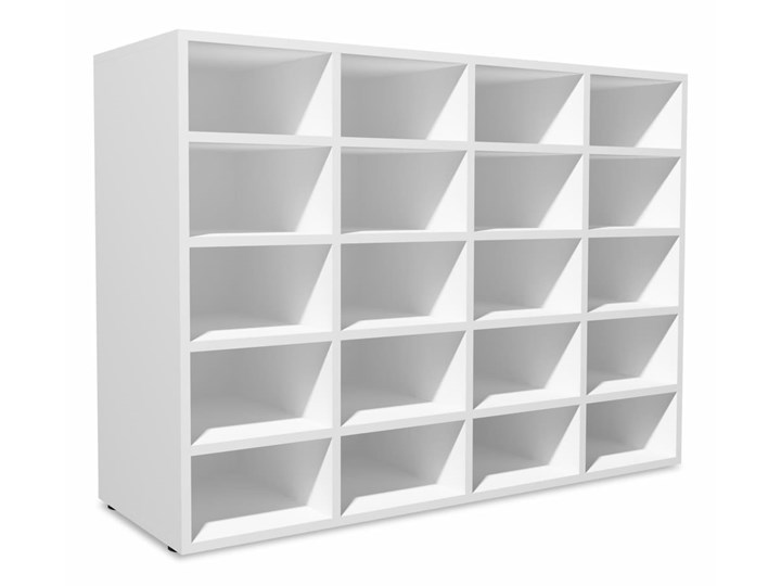 vidaXL Szafka na buty, płyta wiórowa, 92x30x67,5 cm, biała Płyta MDF Płyta meblowa Płyta laminowana Kolor Biały