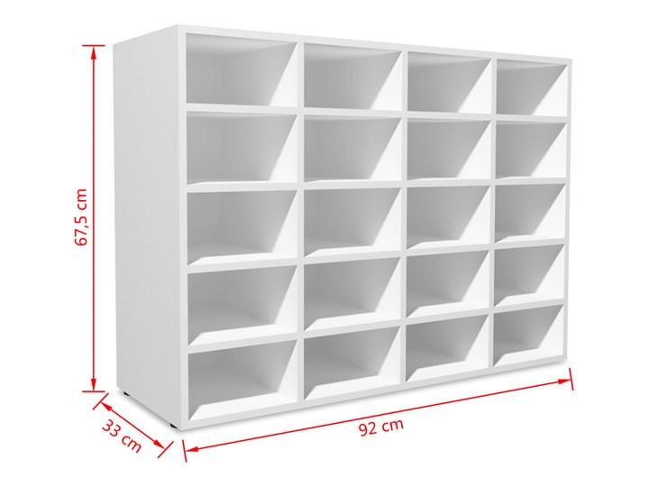 vidaXL Szafka na buty, płyta wiórowa, 92x30x67,5 cm, biała Płyta laminowana Płyta meblowa Płyta MDF Kolor Biały