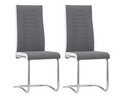 vidaXL Krzesła stołowe, 2 szt., ciemnoszare, tapicerowane tkaniną