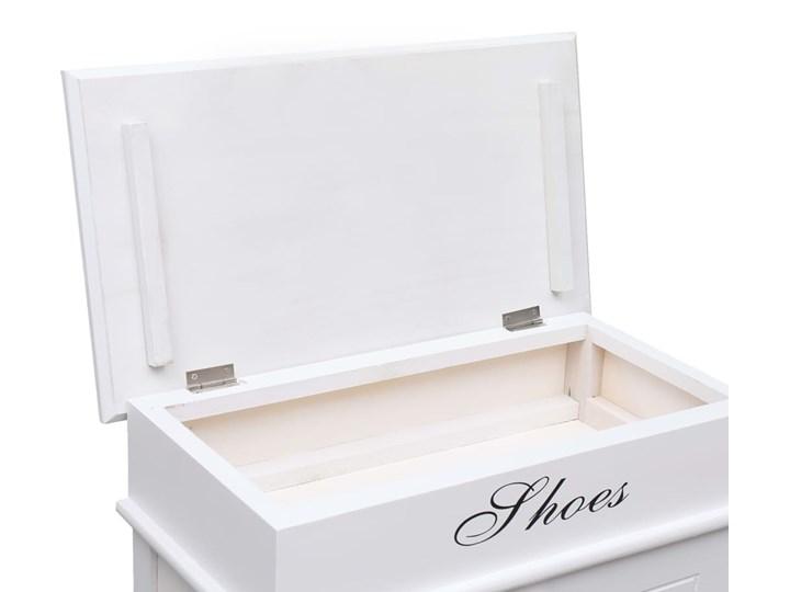 vidaXL Szafka na buty, biała, 50 x 28 x 98 cm, drewno paulownia Płyta laminowana Płyta MDF Kolor Biały