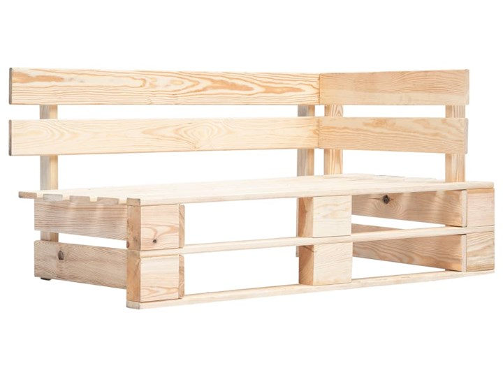 vidaXL Ogrodowa ławka narożna z palet, drewno FSC