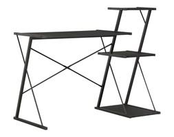 vidaXL Biurko z półką, czarne, 116x50x93 cm