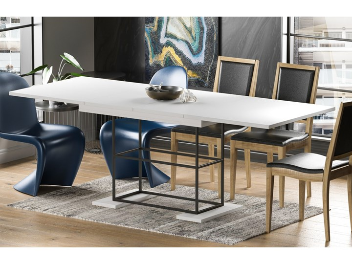 Stół Gani 210 rozkładany od 130 do 210 cm Drewno Płyta MDF Długość 80 cm  Metal Długość 130 cm  Szerokość 80 cm Pomieszczenie Stoły do jadalni
