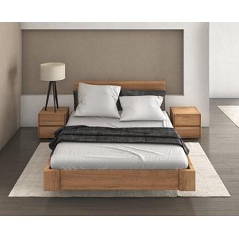 Zestaw: Beriet łóżko+2 szafki nocne  z drewna bukowego lewitujące 160x200 cm