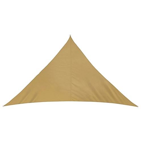 Żagiel przeciwsłoneczny, trójkątny, z tkaniny wodoodpornej, piaskowy, rozmiar 3m x 3m x 3m