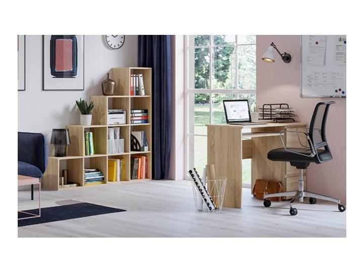 Matowe biurko Aglo - sonoma Głębokość 50 cm Styl Nowoczesny Szerokość 90 cm Kolor Beżowy