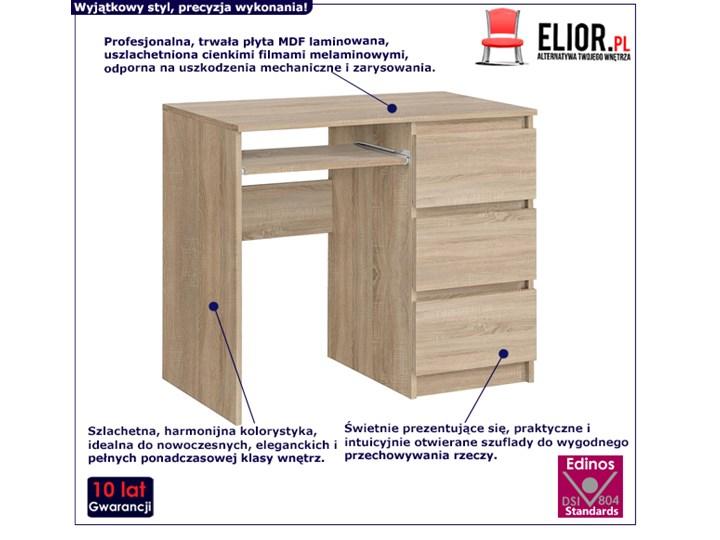 Matowe biurko Aglo - sonoma Szerokość 90 cm Kategoria Biurka Głębokość 50 cm Kolor Beżowy