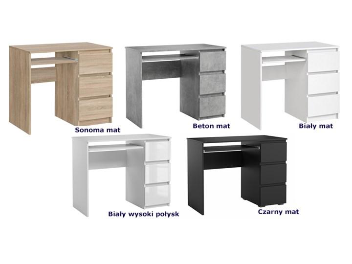 Lakierowane białe biurko - Aglo Głębokość 50 cm Szerokość 90 cm Kategoria Biurka Kolor Biały