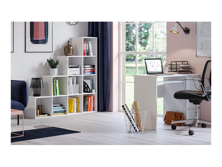Lakierowane białe biurko - Aglo Szerokość 90 cm Głębokość 50 cm Kategoria Biurka