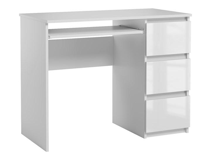 Lakierowane białe biurko komputerowe - Aglo