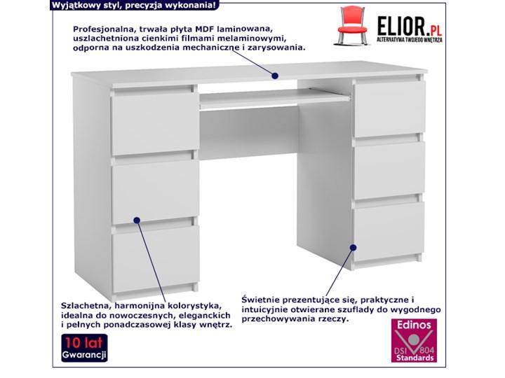 Matowe biurko białe - Aglo 2X Szerokość 130 cm Głębokość 50 cm Kategoria Biurka