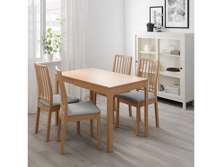 EKEDALEN Stół rozkładany Długość 80 cm  Długość 120 cm  Szerokość 70 cm Drewno Wysokość 75 cm Kolor Beżowy
