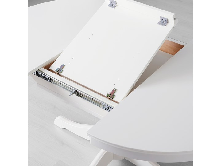 INGATORP Stół rozkładany Długość 155 cm Długość 110 cm  Wysokość 74 cm Płyta MDF Rozkładanie Rozkładane Szerokość 110 cm Styl Prowansalski