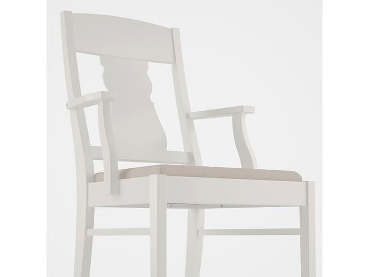 INGATORP / INGOLF Stół i 4 krzesła Kolor Biały Kolor Beżowy