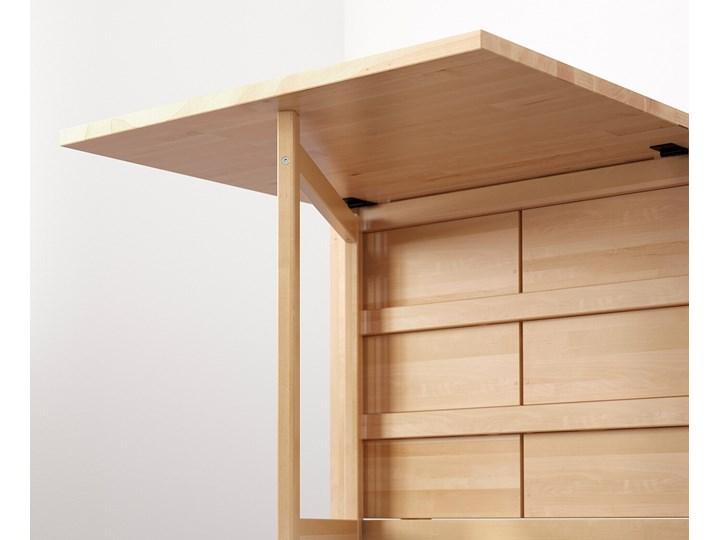 NORDEN Stół z opuszczanym blatem Długość 152 cm Szerokość 80 cm Drewno Długość 89 cm  Wysokość 74 cm Styl Minimalistyczny