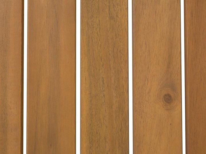 Zestaw mebli ogrodowych jasne drewno akacjowe narożnik szare poduszki stolik kawowy Zestawy modułowe Zestawy wypoczynkowe Zestawy kawowe Kategoria Zestawy mebli ogrodowych