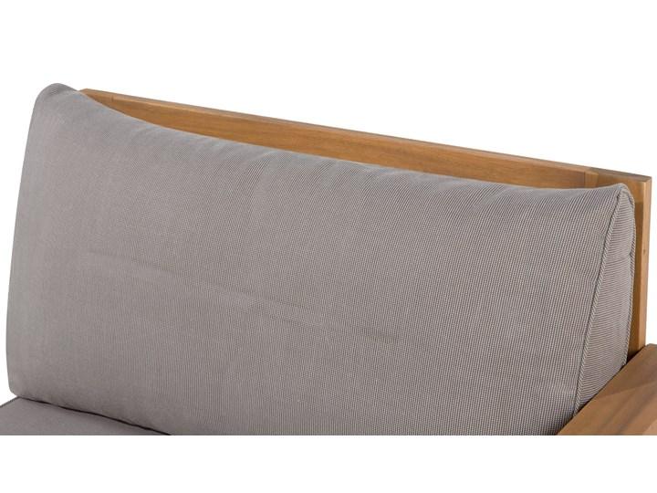 Zestaw mebli ogrodowych jasne drewno akacjowe narożnik szare poduszki stolik kawowy Zestawy modułowe Zestawy wypoczynkowe Zestawy kawowe Styl Nowoczesny Kategoria Zestawy mebli ogrodowych