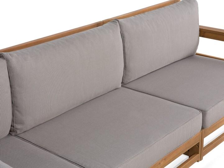 Zestaw mebli ogrodowych jasne drewno akacjowe narożnik szare poduszki stolik kawowy Zestawy kawowe Zestawy wypoczynkowe Zestawy modułowe Kategoria Zestawy mebli ogrodowych Styl Nowoczesny