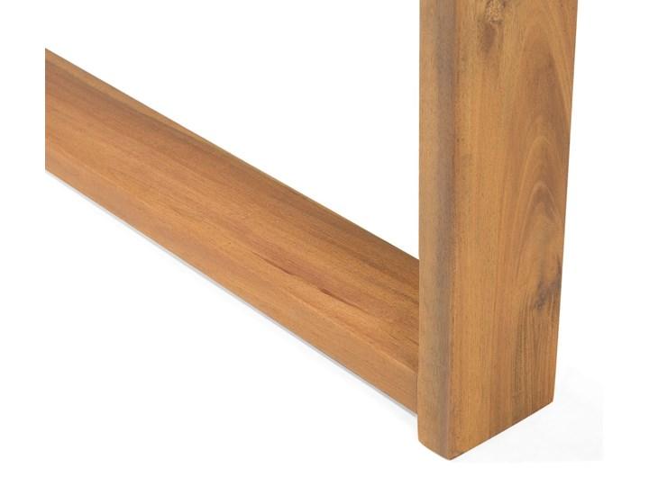 Zestaw mebli ogrodowych jasne drewno akacjowe narożnik szare poduszki stolik kawowy Kategoria Zestawy mebli ogrodowych Zestawy kawowe Zestawy modułowe Zestawy wypoczynkowe Styl Nowoczesny