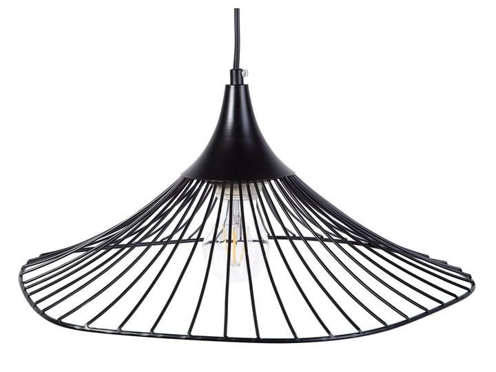 Lampa sufitowa wisząca czarna metalowa okrągły klosz industrialna kuchnia sypialnia Lampa inspirowana Lampa druciana Kategoria Lampy wiszące