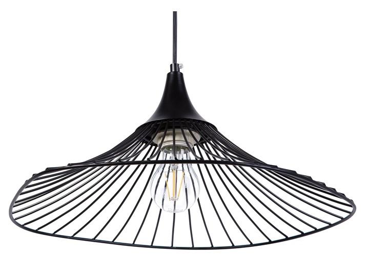 Lampa sufitowa wisząca czarna metalowa okrągły klosz industrialna kuchnia sypialnia Lampa inspirowana Lampa druciana Kolor Czarny