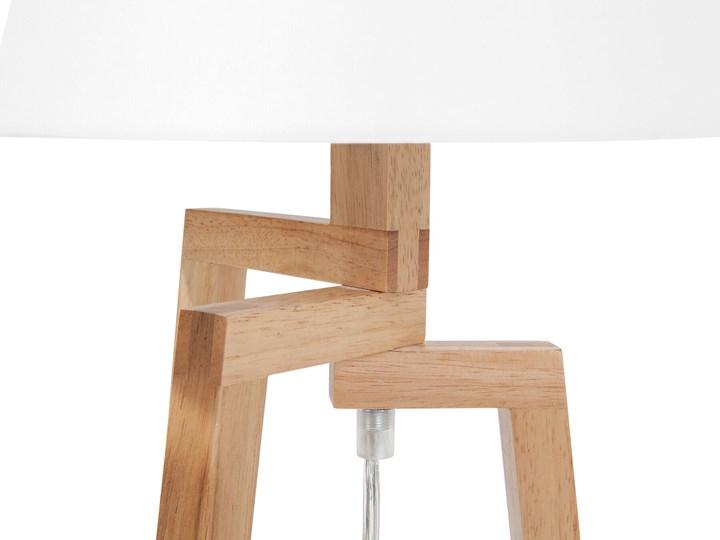 Lampa stołowa biała jasne drewno 42 cm trójnóg skandynawska Lampa z abażurem Lampa nocna Kategoria Lampy stołowe
