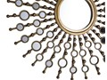 Lustro ścienne wiszące złote okrągłe słońce dekoracyjne Kategoria Lustra Lustro z ramą Styl Nowoczesny