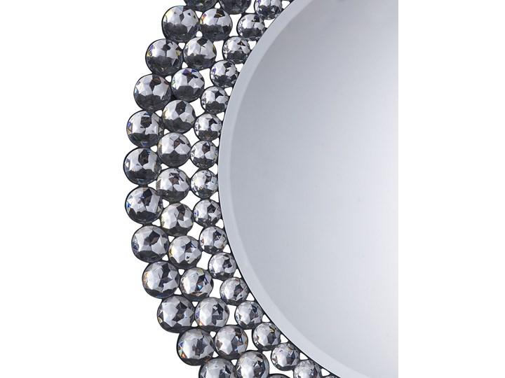 Lustro wiszące ścienne srebrne okrągłe 70 cm dekoracyjne Lustro bez ramy Kategoria Lustra Kolor Srebrny