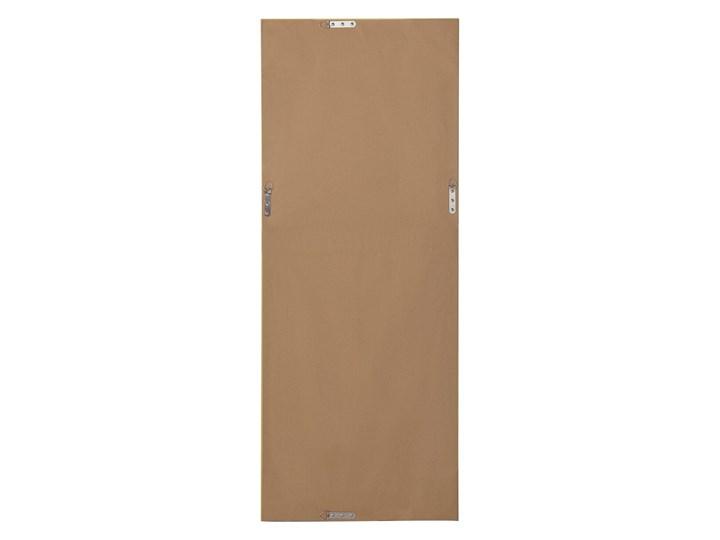 Lustro ścienne wiszące srebrne 50 x 130 cm łazienka sypialnia toaletka Lustro z ramą Prostokątne Kolor Srebrny