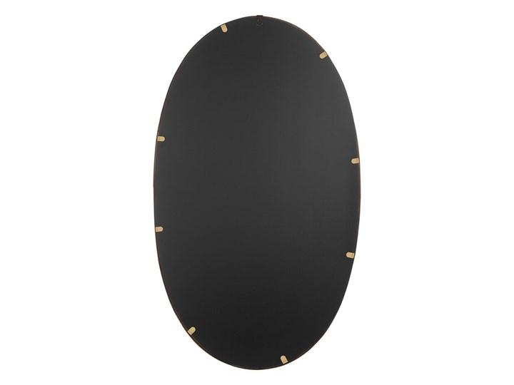 Lustro ścienne wiszące owalne złote 90 x 55 cm dekoracja ścienna do salonu glamour Pomieszczenie Przedpokój
