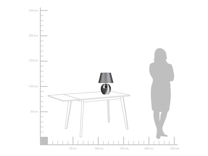 Lampka nocna czarna ze srebrnym ceramiczna ozdobna Styl Nowoczesny Lampa z kloszem Lampa dekoracyjna Lampa nocna Styl Klasyczny