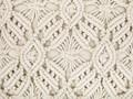 Poduszka dekoracyjna beżowa bawełniana makrama pleciona 45 x 45 cm z wypełnieniem ozdobny sznurek akcesoria boho retro salon sypialnia 45x45 cm Kwadratowe Bawełna Poliester Kolor Beżowy