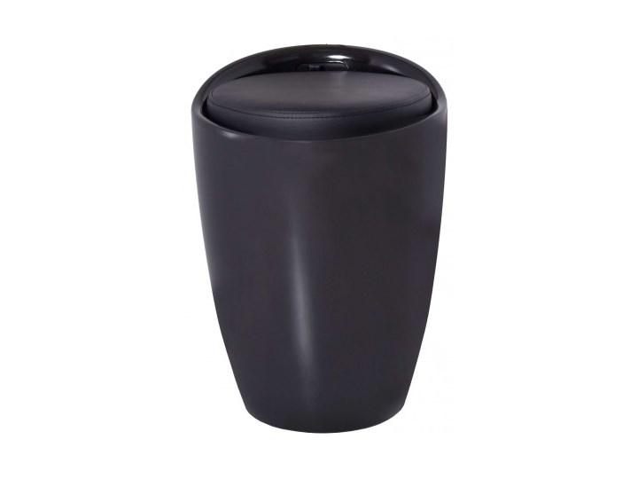 Pufa Malaga z pojemnikiem - czarna