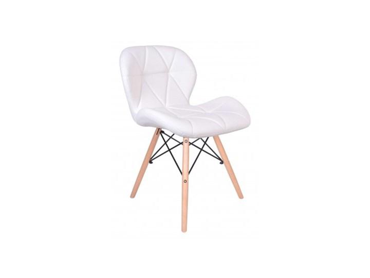 Krzesło tapicerowane MURET DSW biały
