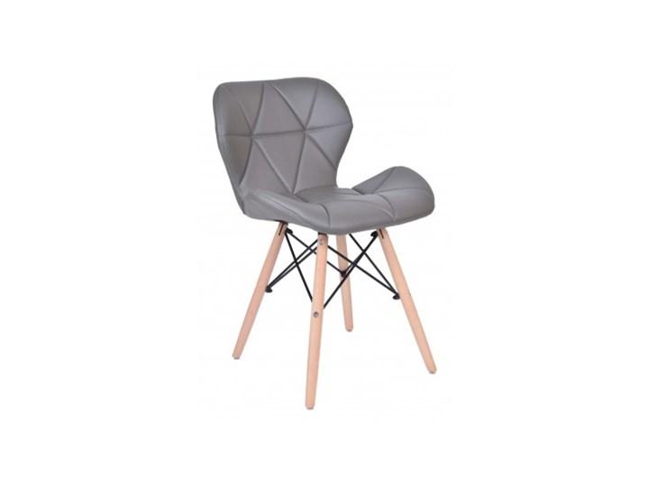 Krzesło tapicerowane MURET DSW - szary Tkanina Metal Skóra Metal Tkanina Tkanina Skóra Skóra naturalna Drewno Drewno Metal Skóra ekologiczna Styl Nowoczesny Drewno Styl Skandynawski
