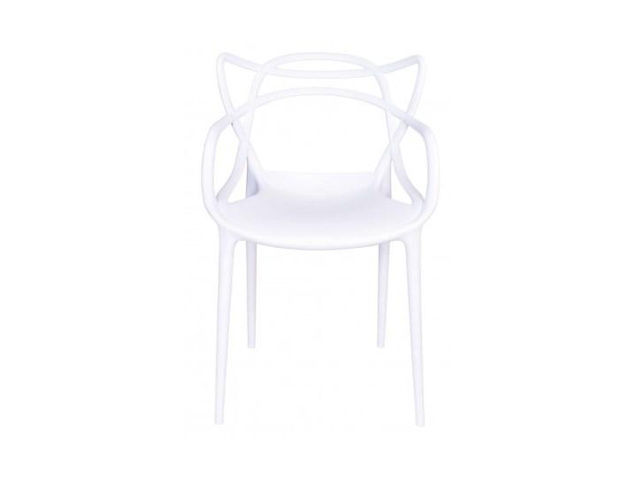 Krzesło LILLE  białe Krzesło inspirowane Głębokość 45 cm Wysokość 81 cm Tworzywo sztuczne Z podłokietnikiem Szerokość 55 cm Szerokość 40 cm Pomieszczenie Jadalnia