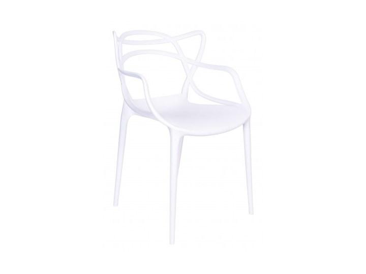 Krzesło LILLE  białe Szerokość 40 cm Szerokość 55 cm Z podłokietnikiem Tworzywo sztuczne Wysokość 81 cm Głębokość 45 cm Krzesło inspirowane Kategoria Krzesła kuchenne Styl Nowoczesny