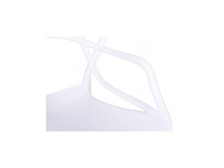 Krzesło LILLE  białe Głębokość 45 cm Szerokość 40 cm Wysokość 81 cm Z podłokietnikiem Szerokość 55 cm Tworzywo sztuczne Kolor Biały Krzesło inspirowane Kategoria Krzesła kuchenne