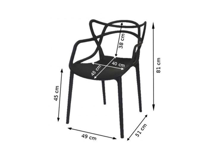 Krzesło LILLE  białe Szerokość 55 cm Krzesło inspirowane Wysokość 81 cm Szerokość 40 cm Z podłokietnikiem Głębokość 45 cm Tworzywo sztuczne Kolor Biały