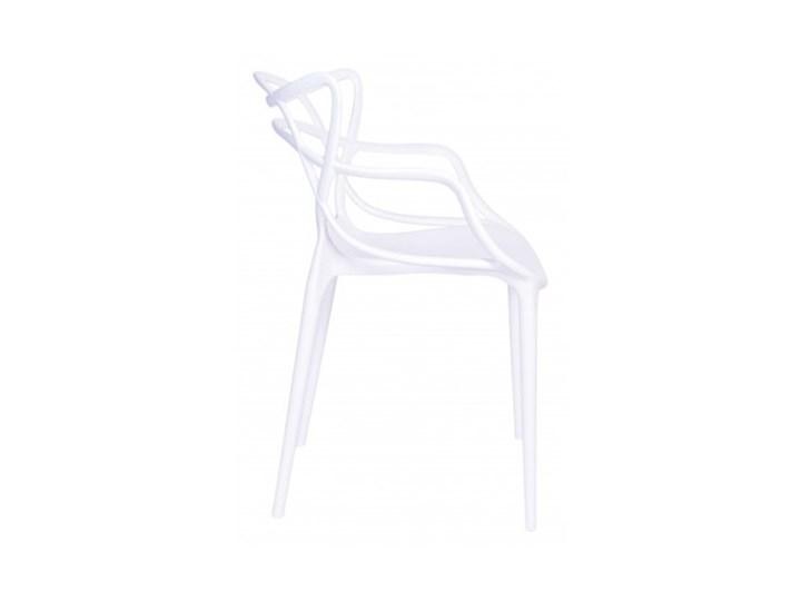 Krzesło LILLE  białe Wysokość 81 cm Szerokość 55 cm Krzesło inspirowane Tworzywo sztuczne Z podłokietnikiem Szerokość 40 cm Głębokość 45 cm Kolor Biały
