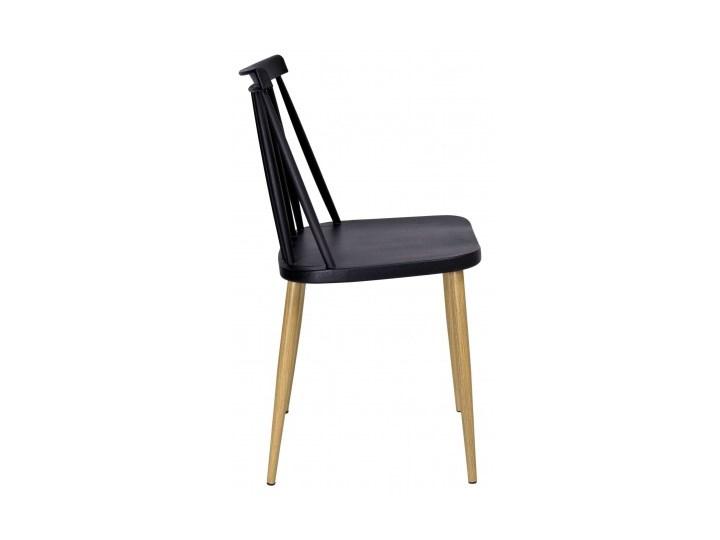 Krzesło KENDO czarne Wysokość 78 cm Głębokość 37 cm Szerokość 42 cm Kategoria Krzesła kuchenne Metal Tworzywo sztuczne Styl Skandynawski