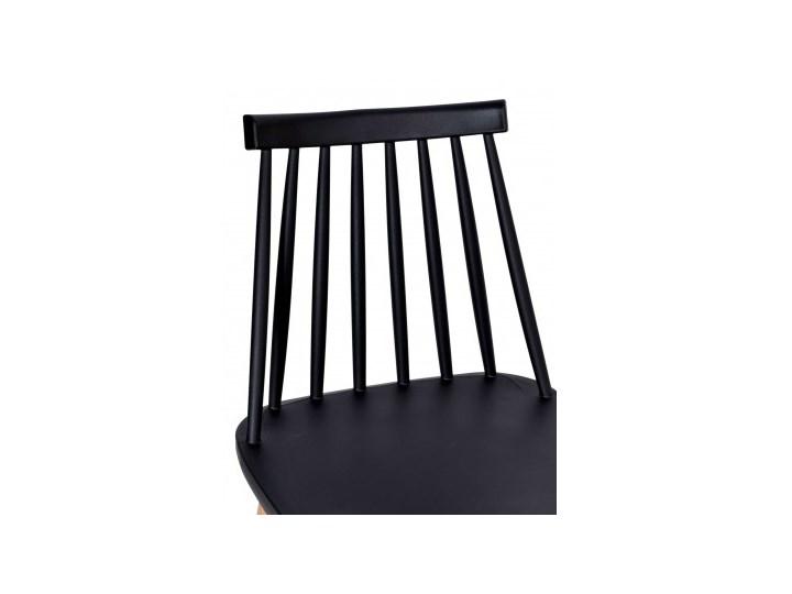 Krzesło KENDO czarne Szerokość 42 cm Metal Kategoria Krzesła kuchenne Wysokość 78 cm Tworzywo sztuczne Głębokość 37 cm Kolor Czarny