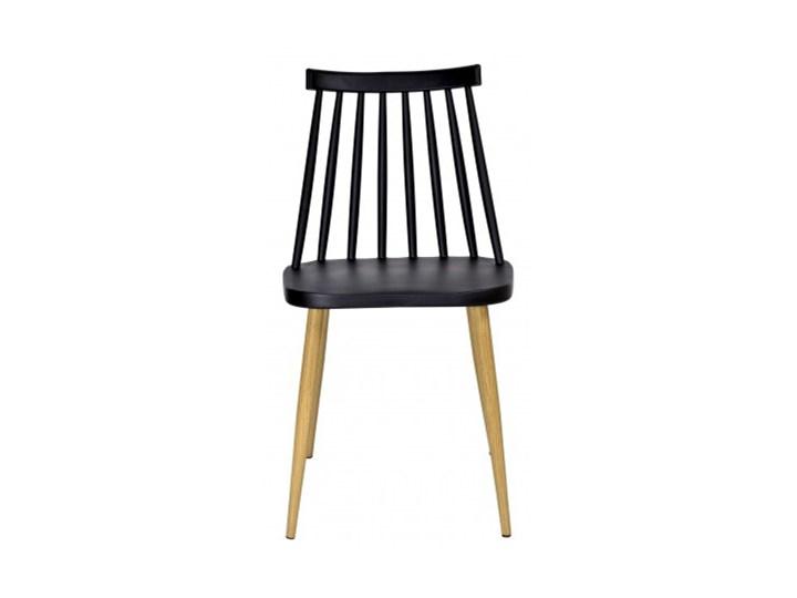 Krzesło KENDO czarne Wysokość 78 cm Głębokość 37 cm Szerokość 42 cm Tworzywo sztuczne Metal Pomieszczenie Jadalnia