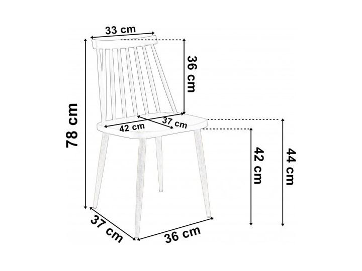 Krzesło KENDO czarne Tworzywo sztuczne Wysokość 78 cm Głębokość 37 cm Kolor Czarny Szerokość 42 cm Metal Styl Skandynawski