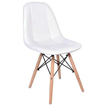 Krzesło tapicerowane DSW Lyon - biały