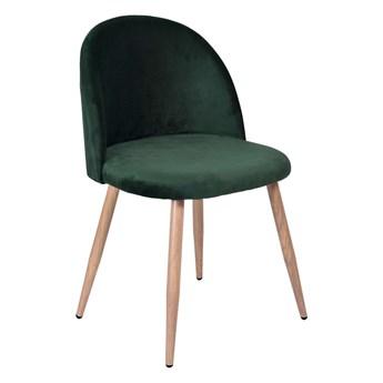 Krzesło tapicerowane Jazz Velvet ciemno-zielony